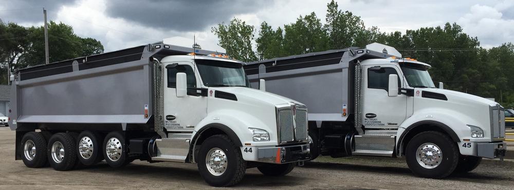 Two-Dump-Trucks
